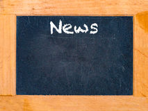 News time chalk board royalty free stock photos