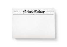 News today with blank space Stock Photography