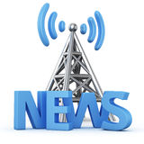News transmitter Stock Photo