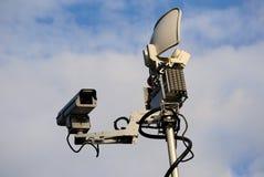 News Truck Satellite. News Satellite with camera device Stock Image