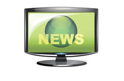 News at TV Stock Image
