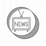 News tv and media design Stock Photo