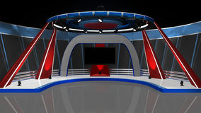 News TV Studio Royalty Free Stock Image