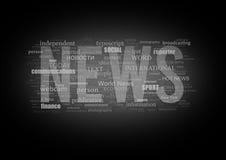 NEWS type printing press Stock Image