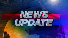 News Update - Broadcast Graphics Title stock footage