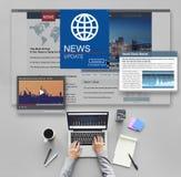 News Update Journalism Headline Media Concept Stock Image