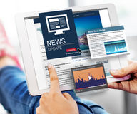 News Update Journalism Headline Media Concept Stock Photo