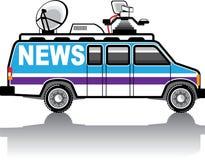 News Van vector Stock Image