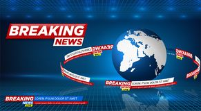 News vector background, breaking news. Can be used for blog background or technological or business news article backdrop. royalty free illustration