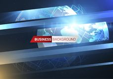 News vector background. EPS10. Live News gray background with Earth globe can be used for finance or business presentations, corporate annual report. EPS10 Royalty Free Stock Photos