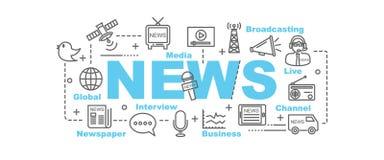 News vector banner Stock Photo