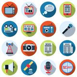 News vector icons Stock Images