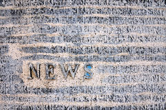 NEWS on the wall. Engraved on the wall,shanghai,china Royalty Free Stock Images