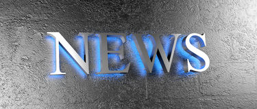 News on wall Stock Image