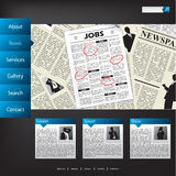 News website template design Stock Images