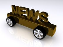News on wheels Royalty Free Stock Photos