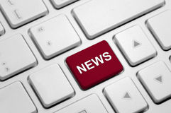 News on White Keyboard Royalty Free Stock Images
