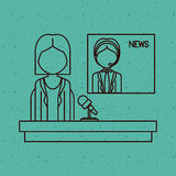 News woman and man presenter design Stock Photo
