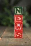 News wood blocks Stock Photography