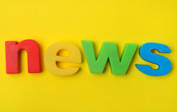 News word on background Stock Photography