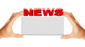 News word with banner Stock Photos