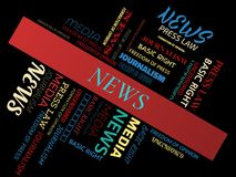 NEWS - word cloud - MEDIA - MEDIA - word cloud - MEDIA - word cloud - JOURNALISM - JOURNALISM - word cloud - FREEDOM OF PRESS - FR Stock Images