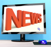 News Word On Computer Shows Media And Information Stock Photo