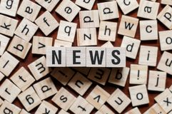 News word concept royalty free stock photo