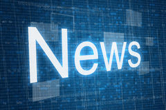 News word on digital background Stock Images