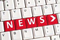 News word on keyboard Stock Photography