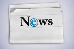 News word. Newspaper with title News word Stock Images