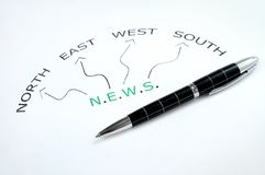 News word Royalty Free Stock Image