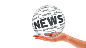 News Word Sphere Royalty Free Stock Photography