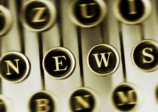 NEWS word on the Vintage Typewriter Royalty Free Stock Photo