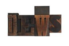 News, word written in vintage printing blocks Royalty Free Stock Image