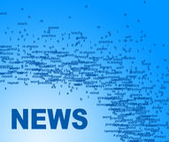 News Words Means Media Player And Info Royalty Free Stock Images