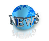 News world globe Stock Photography