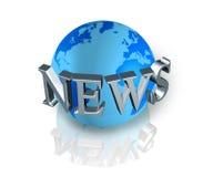 News world globe Stock Photography