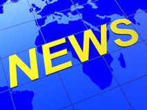 News World Indicates Article Globalization And Journalism Royalty Free Stock Photography