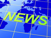 News World Means Earth Newsletter And Globalise Stock Photography