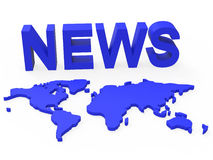 News World Means Newsletter Globalization And Globalise Royalty Free Stock Images