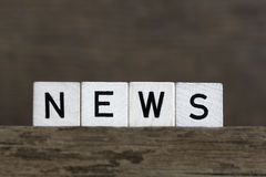 News, written in cubes Royalty Free Stock Photos