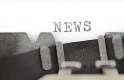 News written on an old typewriter Royalty Free Stock Images
