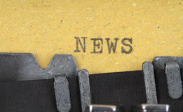 News written on an old typewriter Royalty Free Stock Image