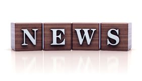 News written on wooden cubes royalty free illustration