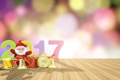 News year 2017 background Stock Photos