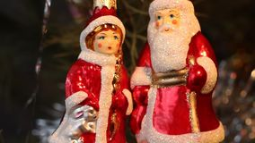 News Years. Christmas tree decoration. stock video footage