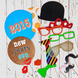 2015 News Years Eve carnival background Stock Image