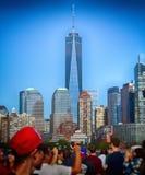 News York ett World Trade Center Arkivbilder