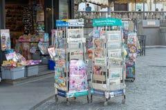 Newsagent ` s winkel royalty-vrije stock foto's